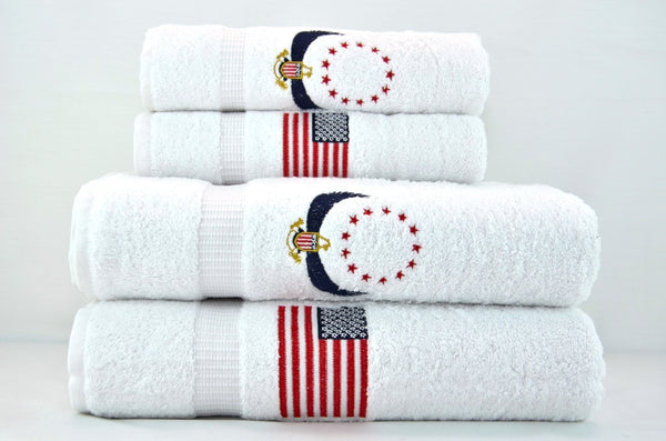Cambridge Special Edition Patriot Towel Set of 4 | Classic Turkish Towels