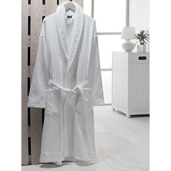 Velour Shawl Collar Turkish Cotton Bathrobe - Classic Turkish Towels