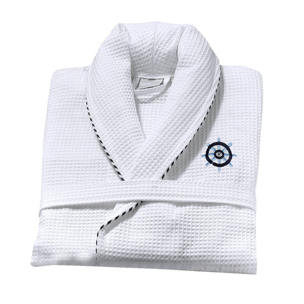 Classic Turkish Cotton Nautical Sailor Bathrobe - Classic Turkish Towels