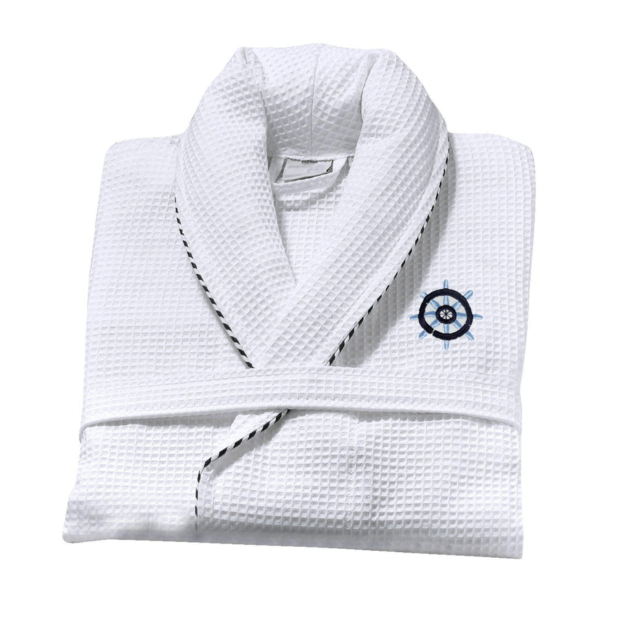 Sailor Nautical Bathrobe (White) | Classic Turkish Towels