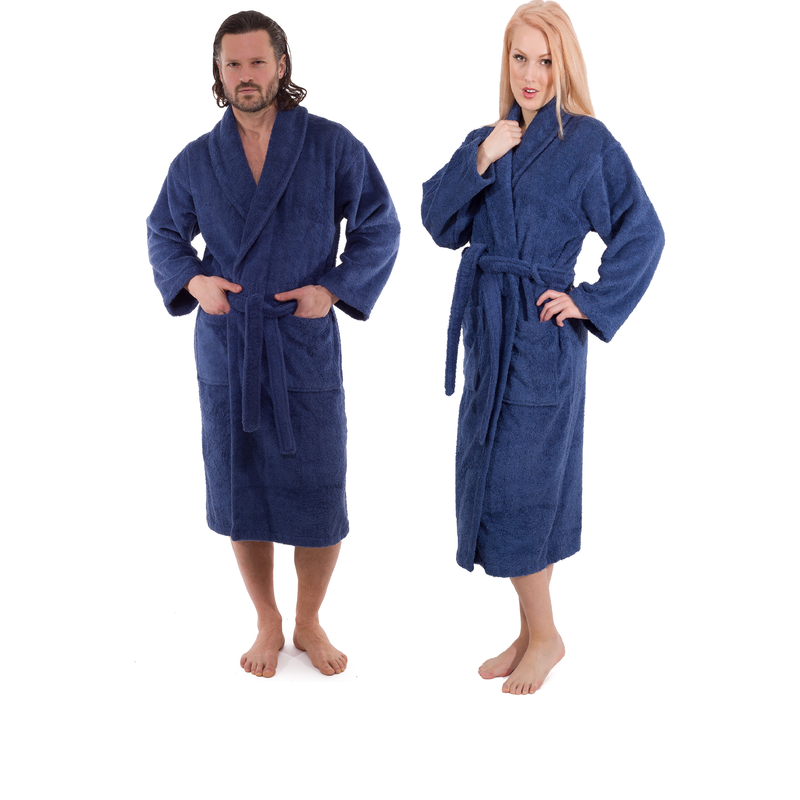 Classic Turkish Cotton Bathrobe in Various Colors | Classic Turkish Towels
