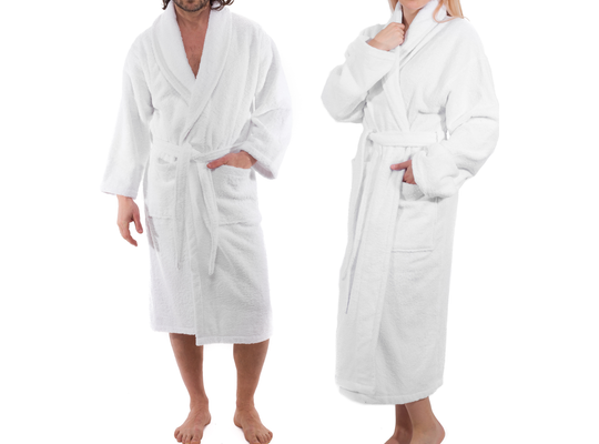 Turkish Cotton Bathrobe (White)