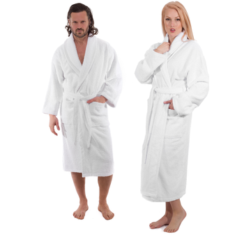 Turkish Cotton Bathrobe (White) | Classic Turkish Towels