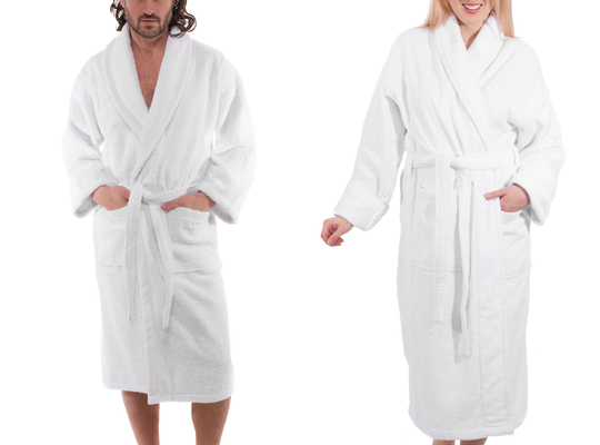 Turkish Cotton Shawl Collar Bathrobe (400 GSM)