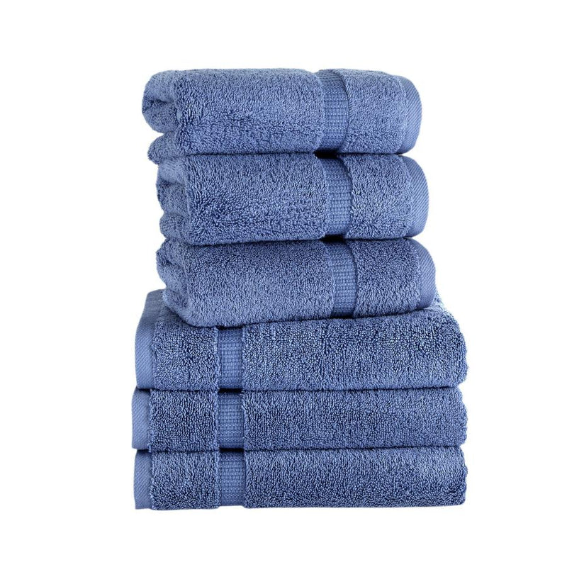Villa Turkish Cotton Hand Towels - 6 Pieces | Classic Turkish Towels