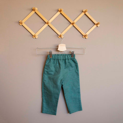 Linen Trousers - Green