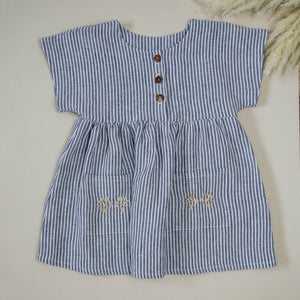 Button Dress - Stripe