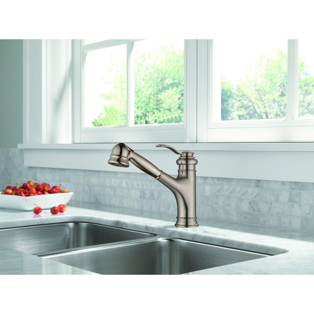 Single Handle Pull-Out Kitchen Faucet LF1001