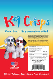 K9Crisps are low in calories and super thin!