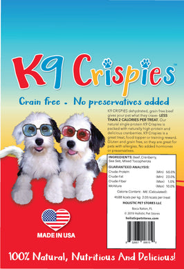 K9 Crispies Beef with Cranberry Bite Size Dog Treats 6 oz