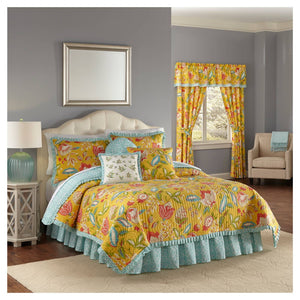 http://www.ebay.com/i/Yellow-Floral-Modern-Poetic-Reversible-Quilt-Set-Queen-4pc-Waverly-174-/302541317032