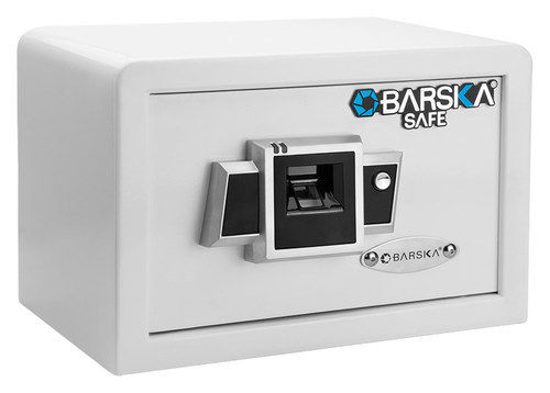 http://www.ebay.com/i/Barska-Compact-Biometric-Safe-Motorized-Deadbolt-Lock-White-/201944695107