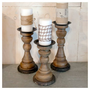 http://www.ebay.com/i/Wood-Candle-Holder-Set-Tan-3pk-VIP-Home-Garden-174-/282643684928
