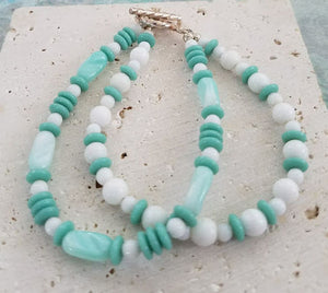 Seafoam Green 2-Strand Beaded Bracelet