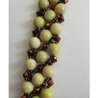 Lemon Flower Jasper Beaded Bracelet