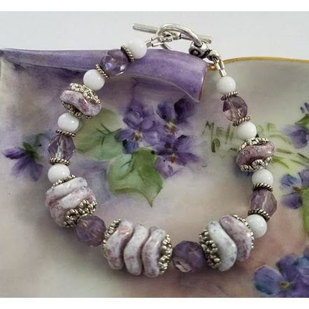 Purple Czech Glass Bracelet