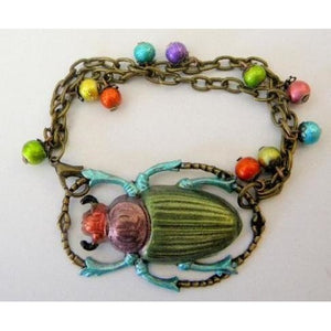 Colorful Beetle Bracelet