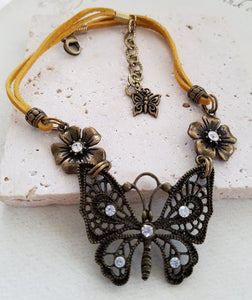 Brass Butterfly Boot Bangle