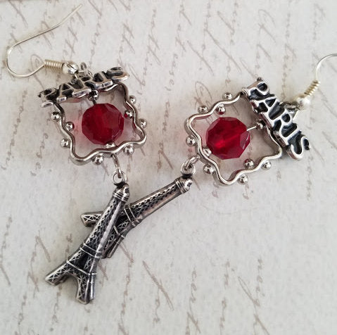 Paris Earrings, Red