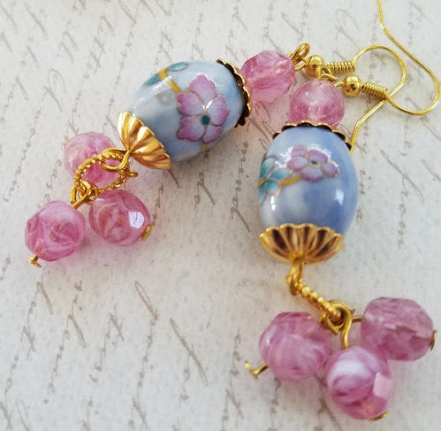 Floral Ceramic Earrings
