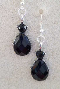 Jet Teardrop Earrings