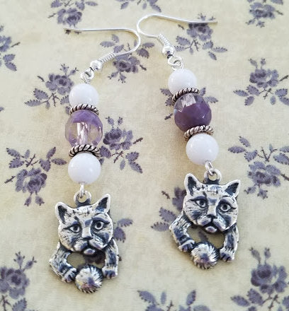 Playful Cat Earrings