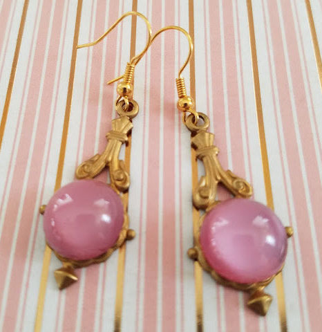 Pink Moonglow Earrings