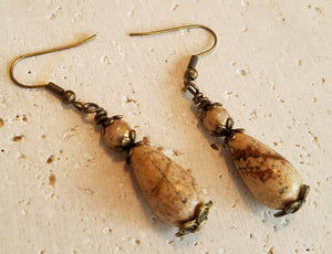 Jasper Teardrop Earrings