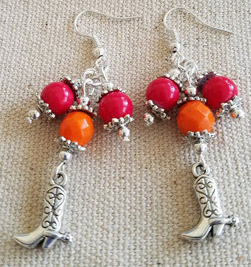 Orange & Red Cowgirl Earrings