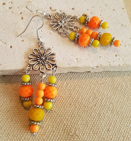 Orange & Yellow Earrings