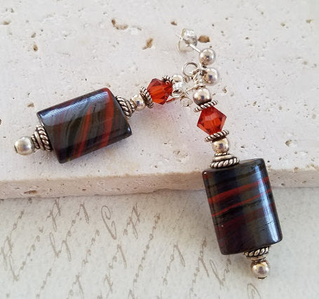 Blood Agate Earrings