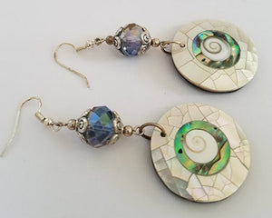 Whirling Shell Earrings