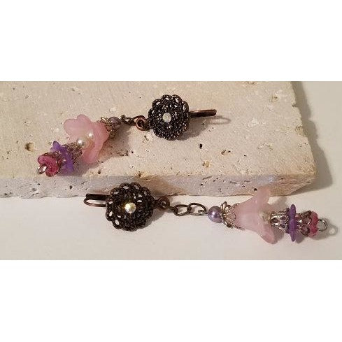 Pink Bell Flower Earrings