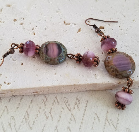 Lavender Picasso Earrings