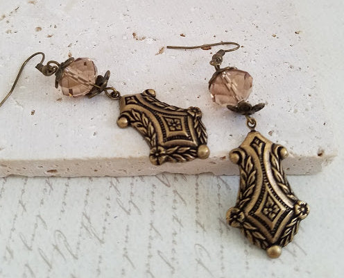Victorian Brass Earrings