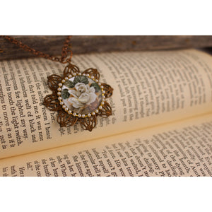 Rose Cameo Necklace