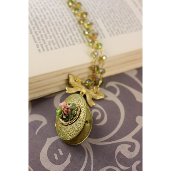 Locket with Shell Flowers