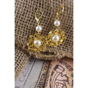 Pearl Russian Gold Earrings