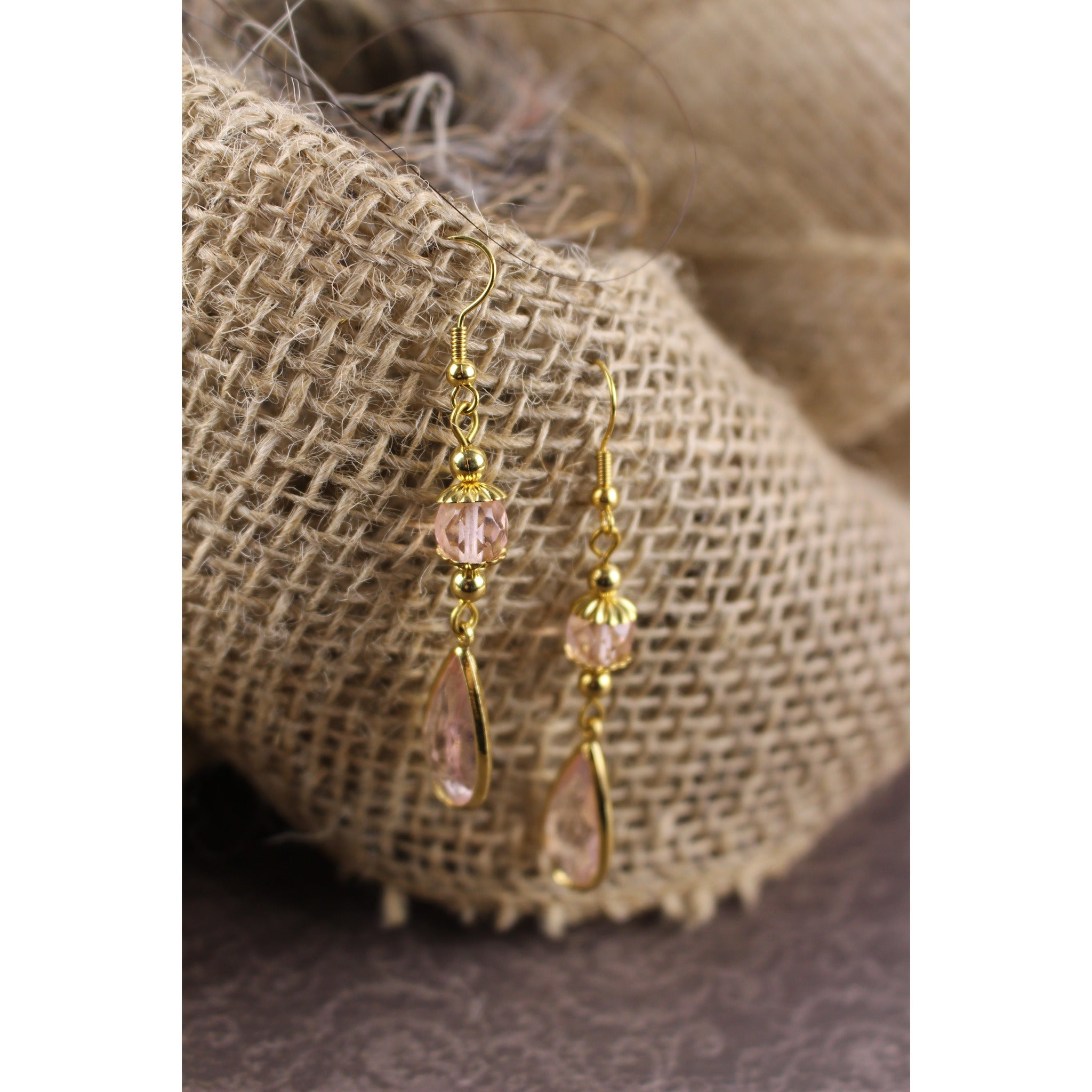Peach Teardrop Earrings