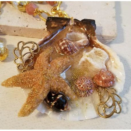 Starfish Collage Necklace