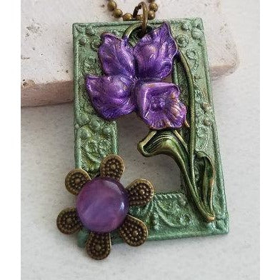Purple Iris Necklace