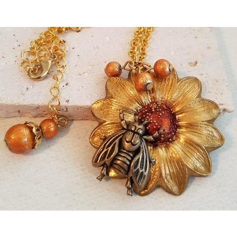 Golden Sunflower Necklace