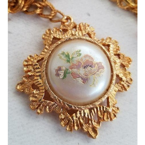 Pink Floral Cameo