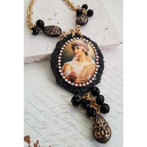 Lady Cameo in Black Frame