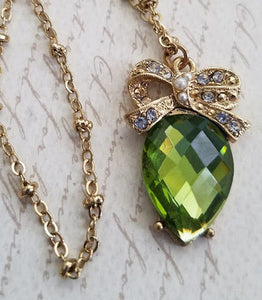 Green Teardrop Necklace