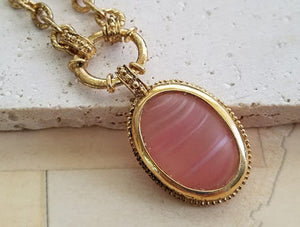 Pink Czech Glass Necklace