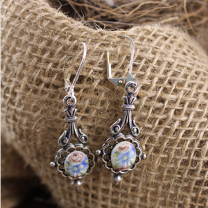 Floral Cameo Earrings