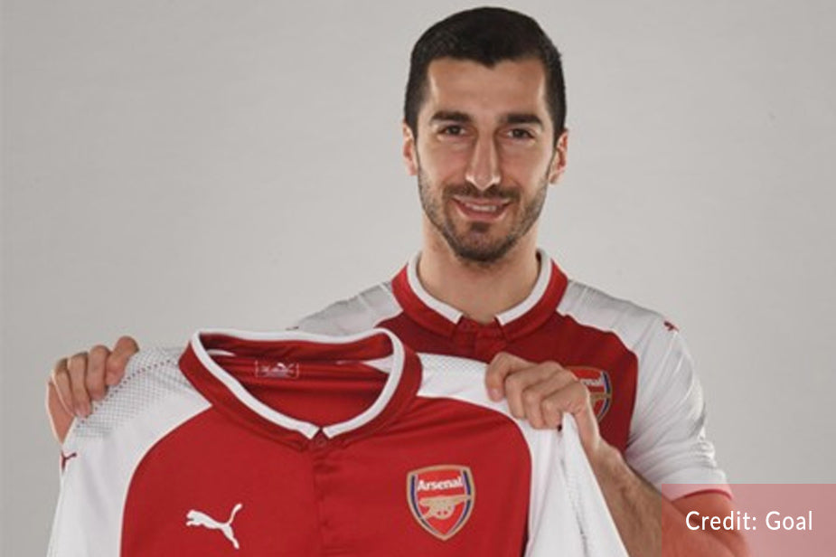 Mkhitaryan's Arsenal shirt number revealed