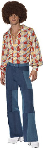 Mens Patchwork Denim Flares