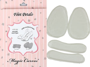 MAGIC CURVES SILICONE FOOT PETALS FOR HEELS AND TOES